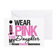 I Wear Pink For Daughter Greeting Card