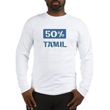 50 Percent Tamil Long Sleeve T-Shirt