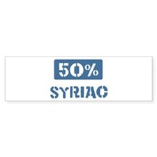 50 Percent Syriac Bumper Sticker (10 pk)