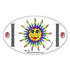 Rainbow Sun - Oval Decal