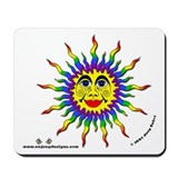 Rainbow Sun - Mousepad