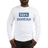 50 Percent Korean Long Sleeve T-Shirt