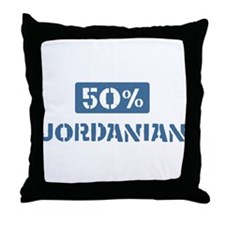 50 Percent Jordanian Throw Pillow
