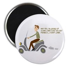 "Scooter Retro Boy 2.25"" Magnet (10 pack)"