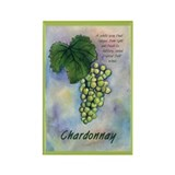 Chardonnay Wine Rectangle Magnet
