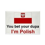 Polish Dupa Rectangle Magnet