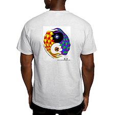 Yin Yang Fish - Ash Grey T-Shirt