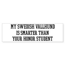 Smart My Swedish Vallhund Bumper Bumper Sticker