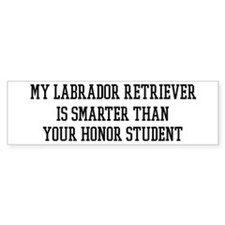 Smart My Labrador Retriever Bumper Bumper Sticker