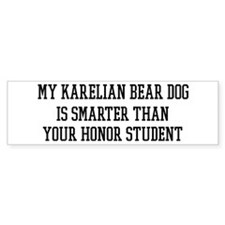 Smart My Karelian Bear Dog Bumper Sticker (10 pk)
