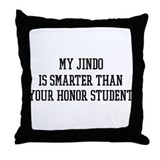 Smart My Jindo Throw Pillow