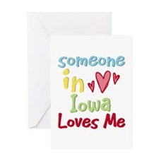 Someone in Iowa Loves Me Greeting Card