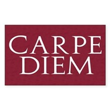Carpe Diem Rectangle Decal