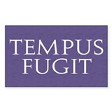 Tempus Fugit Rectangle Sticker 10 pk)