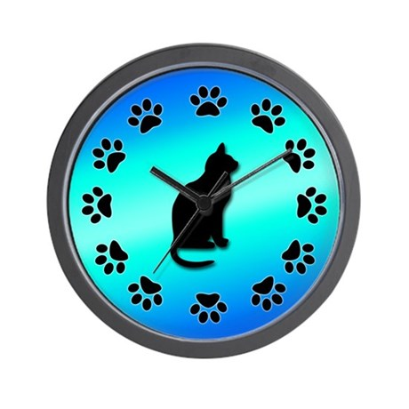 Cat Clock Wall Clock By Thehatch