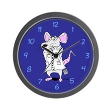 Lab Rat Scientist Wall Clock