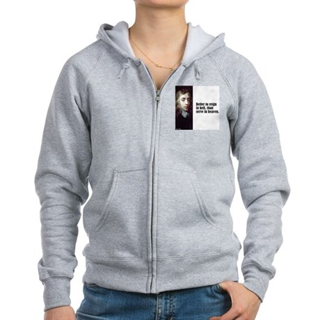 "Milton ""Better To Reign"" Women's Zip Hoodie"