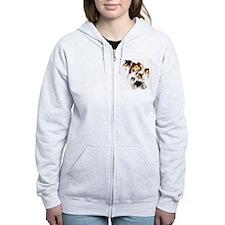 Cute Collie Zip Hoodie