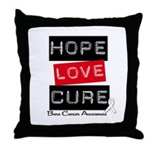 BoneCancerHope Throw Pillow