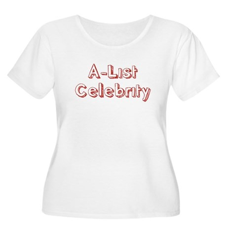 A-List Celebrity Womens Plus Size Scoop Neck T-Sh