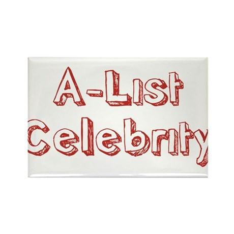 A-List Celebrity Rectangle Magnet