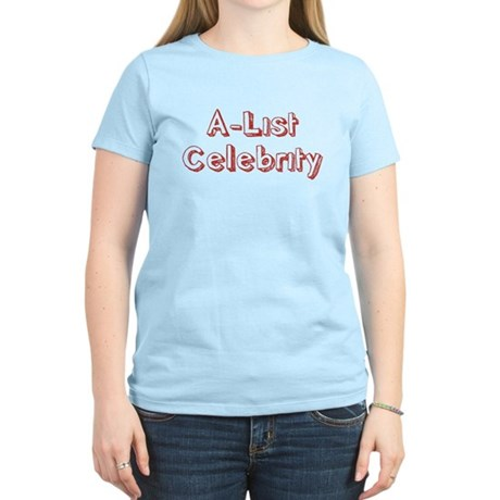 A-List Celebrity Womens Light T-Shirt