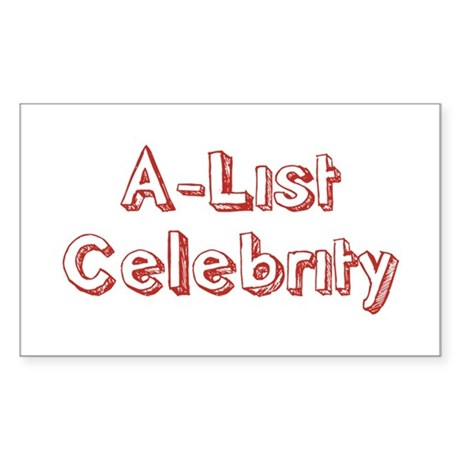 A-List Celebrity Rectangle Sticker