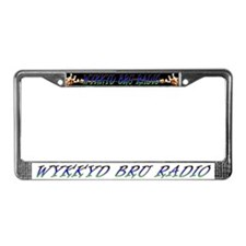 Rock radio station License Plate Frame