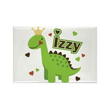 Dinosaur Princess Izzy Rectangle Magnet (10 pack)