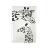 Giraffes Rectangle Magnet