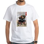 Japanese Samurai Warrior Morimasa (Front) White T-