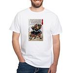 Japanese Samurai Warrior Morimasa White T-Shirt