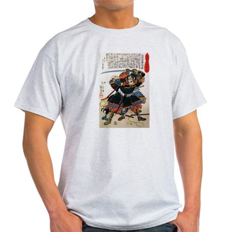 Japanese Samurai Warrior Morimasa (Front) Light T-