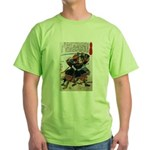 Japanese Samurai Warrior Morimasa (Front) Green T-