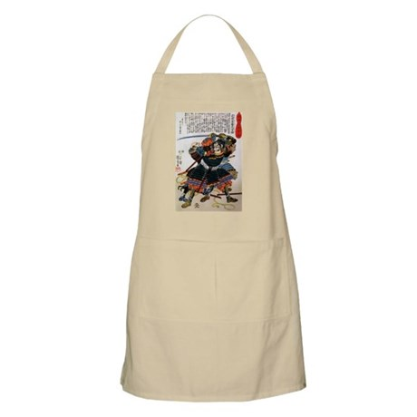Japanese Samurai Warrior Morimasa BBQ Apron