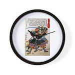 Japanese Samurai Warrior Morimasa Wall Clock