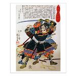 Japanese Samurai Warrior Morimasa Small Poster