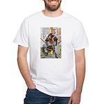 Japanese Samurai Warrior Yoshiaki (Front) White T-
