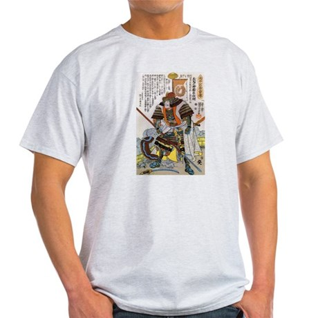 Japanese Samurai Warrior Yoshiaki (Front) Light T-