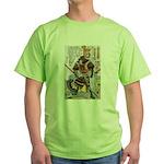 Japanese Samurai Warrior Yoshiaki (Front) Green T-