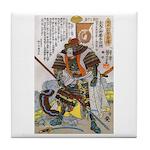 Japanese Samurai Warrior Yoshiaki Tile Coaster