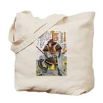 Japanese Samurai Warrior Yoshiaki Tote Bag
