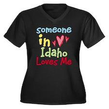 Someone in Idaho Loves Me Women's Plus Size V-Neck