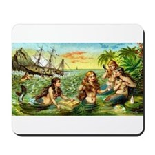Cute Vintage mermaid Mousepad