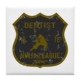 Dentist Ninja League Tile Coaster