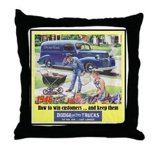 """1946 Dodge Truck Ad"" Throw Pillow"