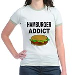 HAMBURGER ADDICT Jr. Ringer T-Shirt