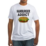 HAMBURGER ADDICT Fitted T-Shirt