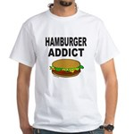 HAMBURGER ADDICT White T-Shirt