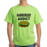 HAMBURGER ADDICT Green T-Shirt